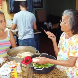 Staaf Member Elena Soto Cooking with Elvia